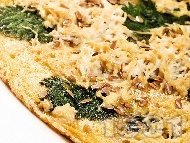 Рецепта Омлет с 2 яйца, тофу, царевично брашно, кисело мляко, сода, и коприва